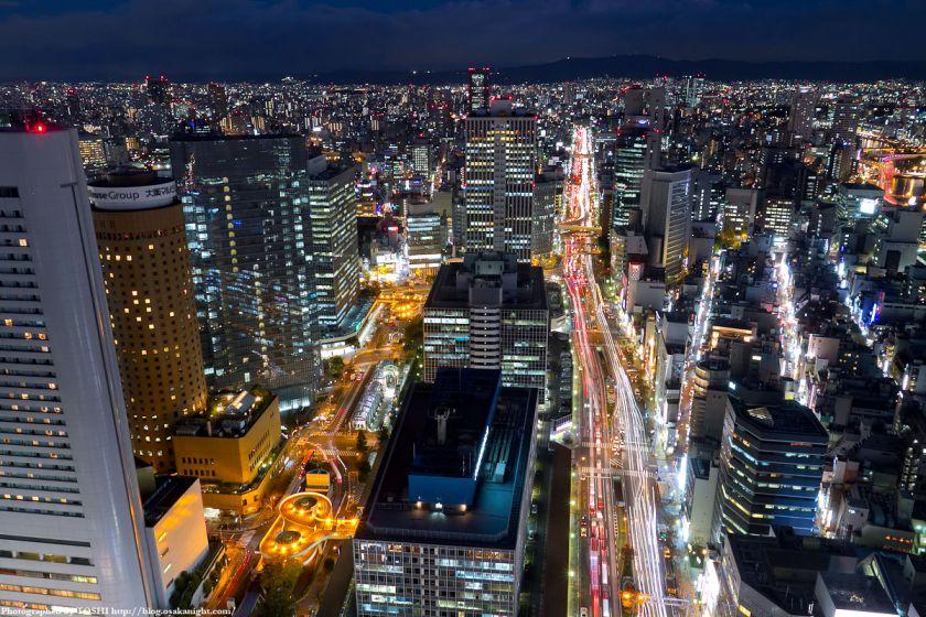 ブリーゼタワーからの大阪夜景 2011年12月 02