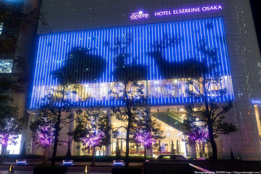 ホテルエルセラーン大阪 Xmasイルミネーション2011 02