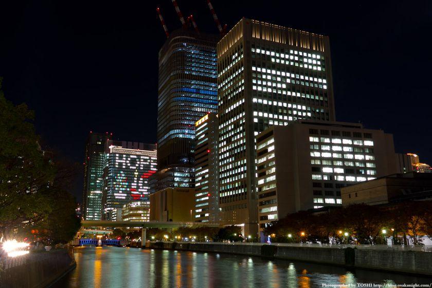 中之島三井ビル クリスマス・ウィンドウアート2011 01