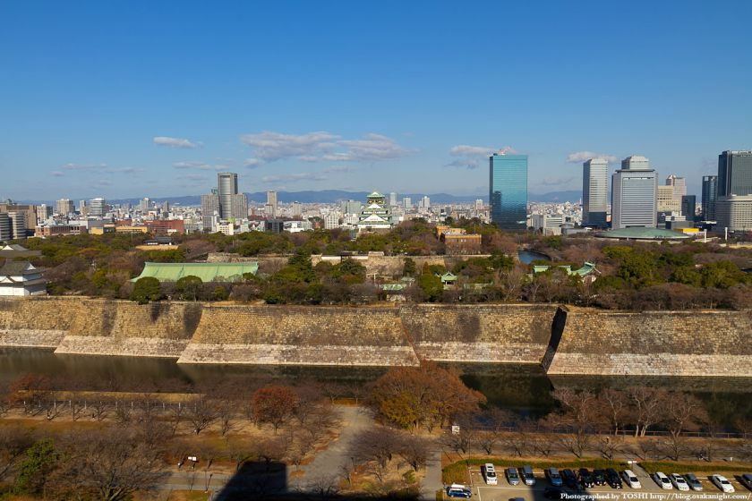 KKRホテル大阪から見た大阪城 2012 01