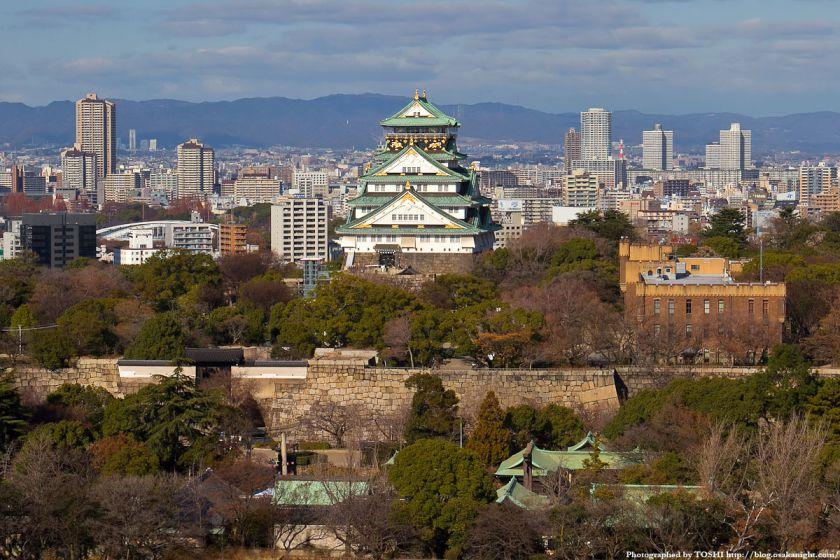KKRホテル大阪から見た大阪城 2012 02