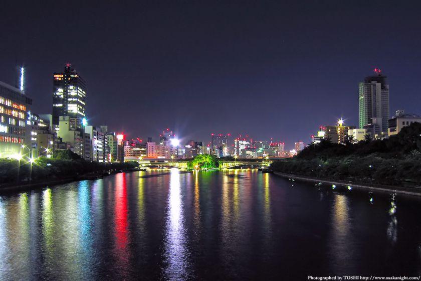 天満橋からの夜景 2002年頃