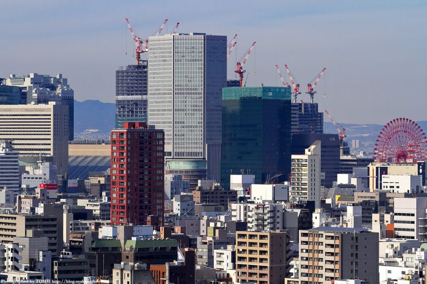 OMMビルから見た梅田方面2012 02