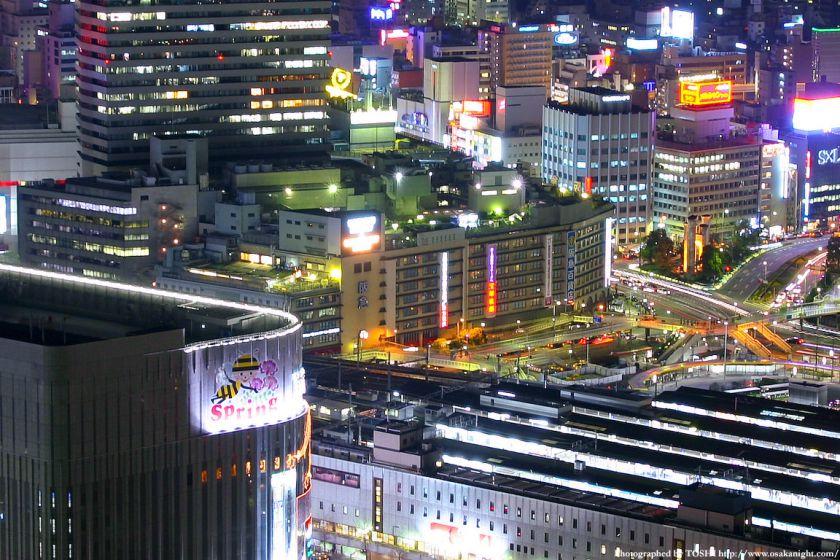 旧 梅田阪急百貨店の夜景 2004年頃
