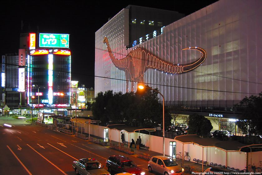 JR天王寺駅前の夜景 2002年頃
