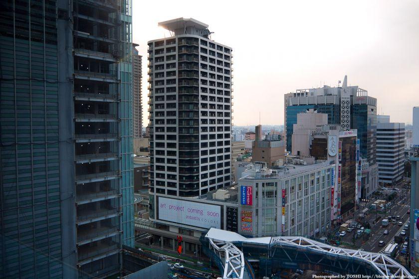 天王寺MIOから見たあべのnini 2012年2月