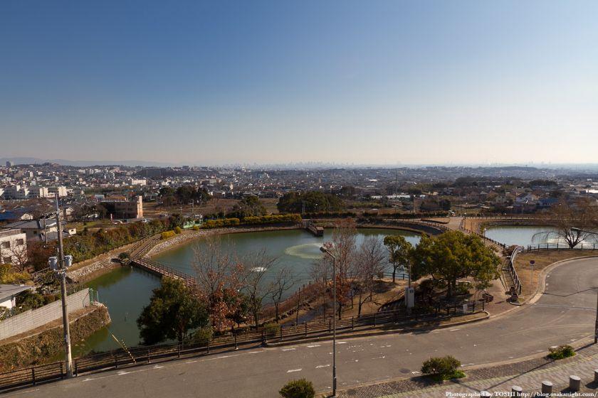 箕面スカイアリーナから大阪方面の眺望