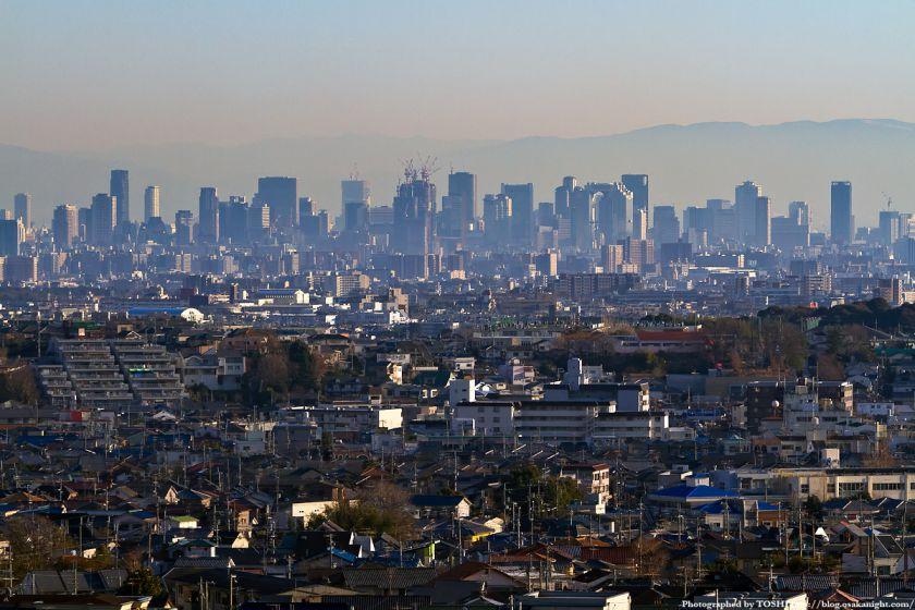 箕面スカイアリーナから見た大阪の高層ビル群 2