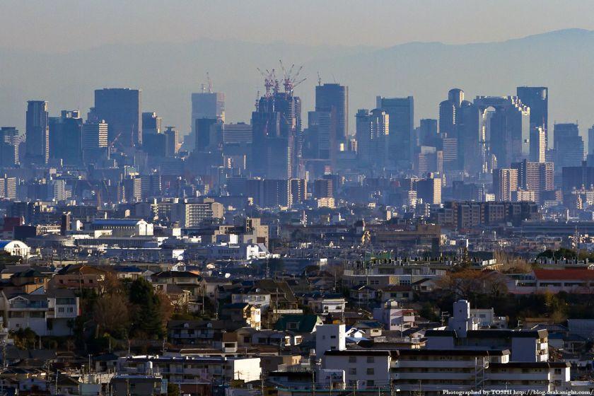 箕面スカイアリーナから見た大阪の高層ビル群 3