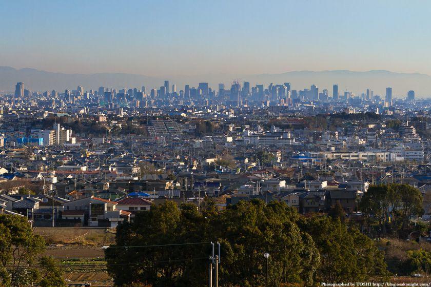 箕面スカイアリーナから見た大阪の高層ビル群 1
