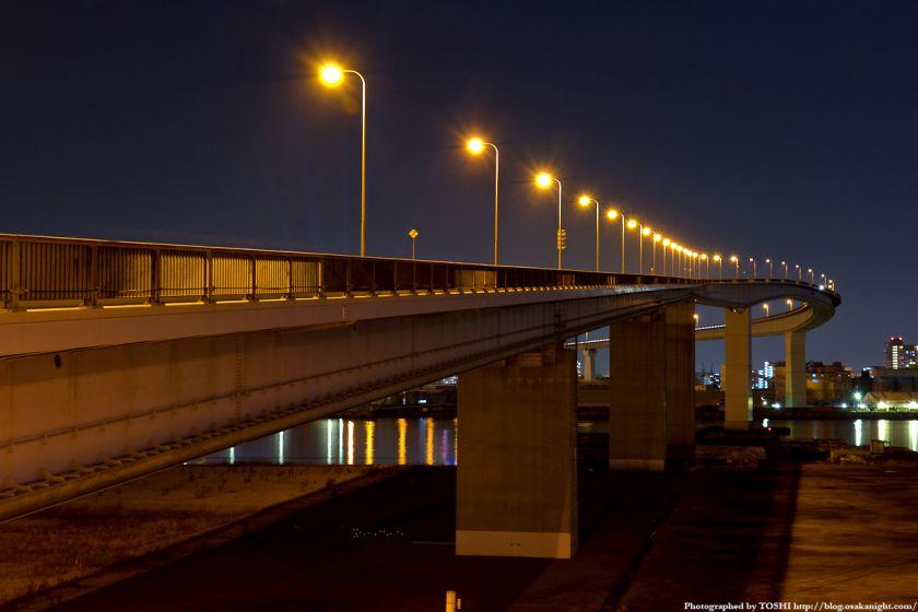 なみはや大橋 夜景