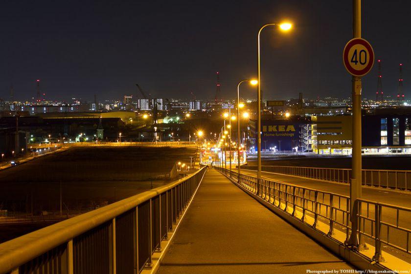 なみはや大橋 夜景 大正区側