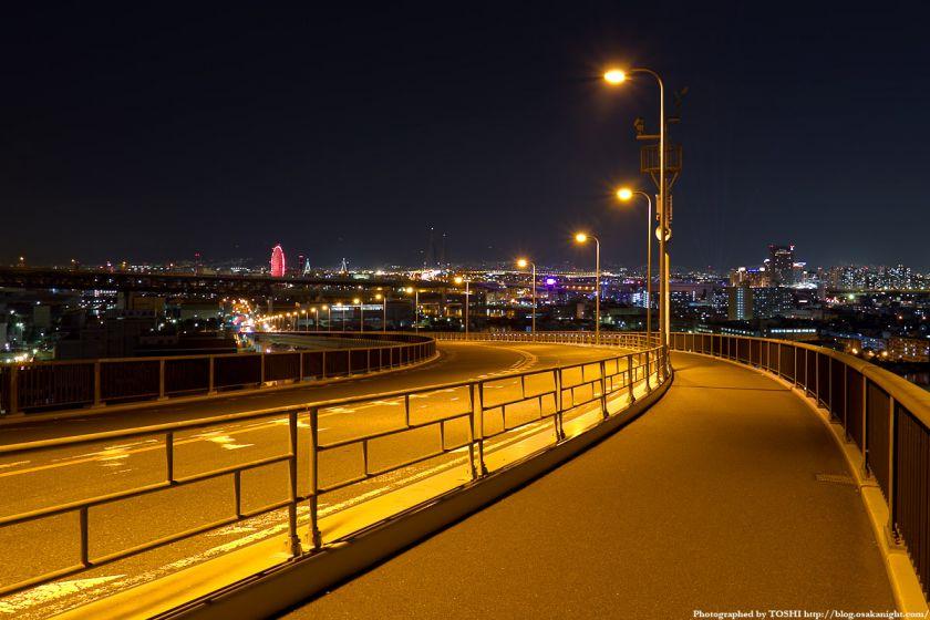 なみはや大橋 夜景 港区側 ベイエリア方面
