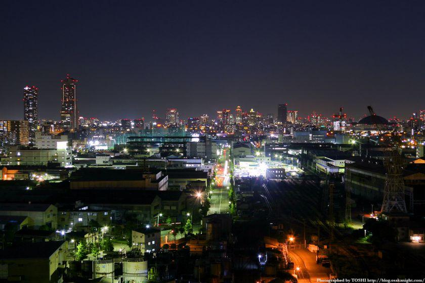 なみはや大橋から見た大阪市中心部の夜景 2004年6月