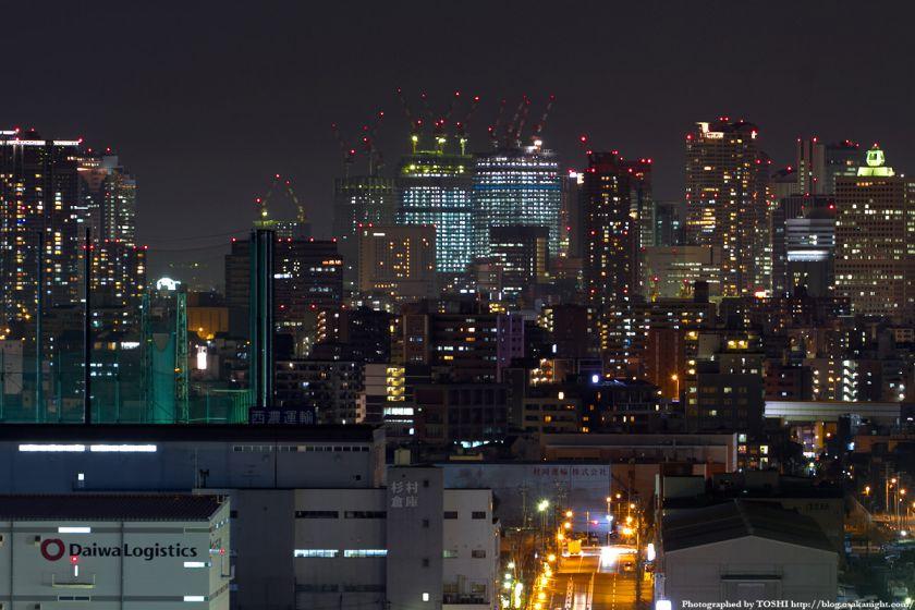 なみはや大橋から見たグランフロント大阪 夜景 2012年3月