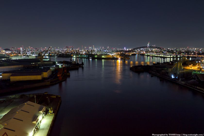大正内港 夜景 2012年3月