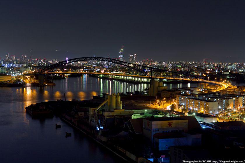大正内港 千歳橋 夜景 2012年3月