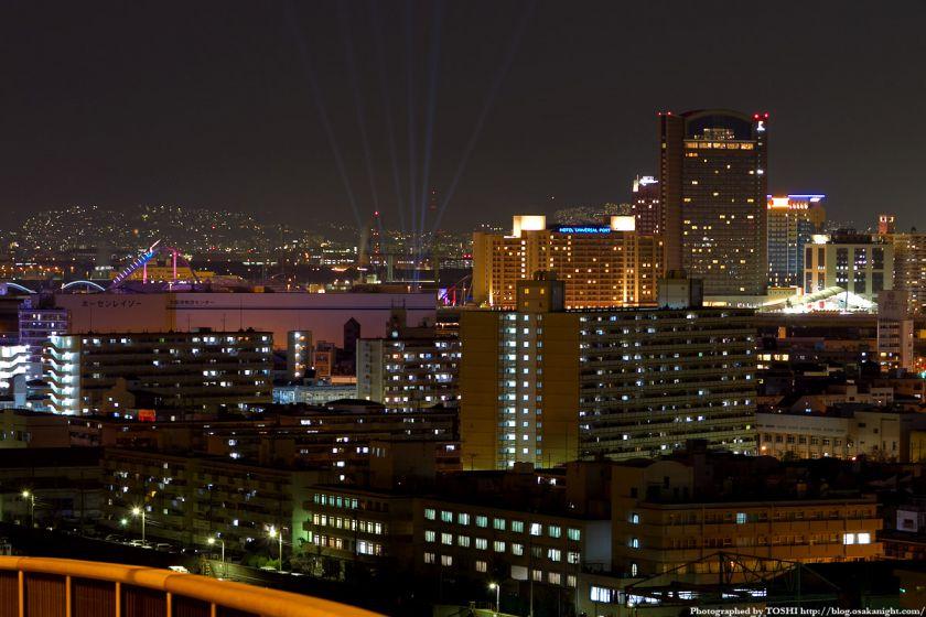 なみはや大橋から見たユニバーサルシティ 夜景 2012年3月