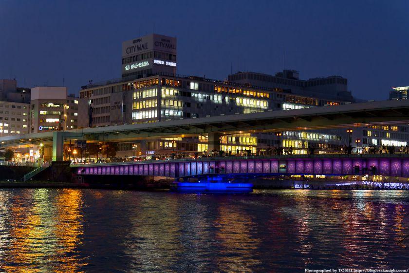 天満橋ライトアップ 2012年4月