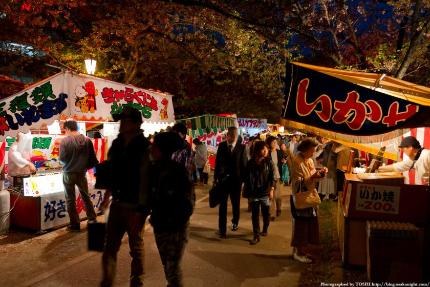 桜之宮公園の露店 2012年4月
