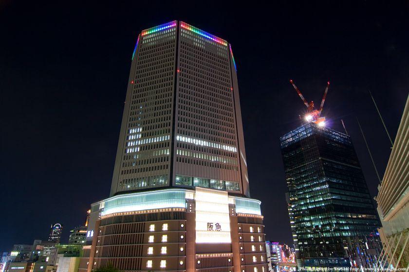 梅田阪急ビル ライトアップ試験点灯3