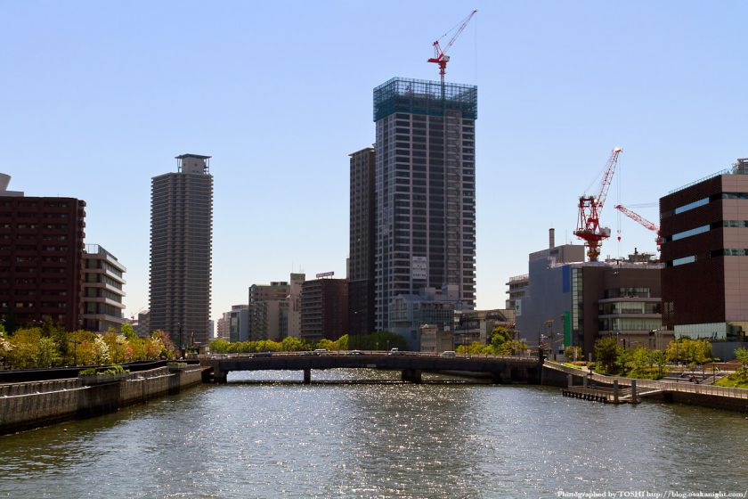 クレヴィアタワー中之島 & 新関西電力病院 2012年5月 01