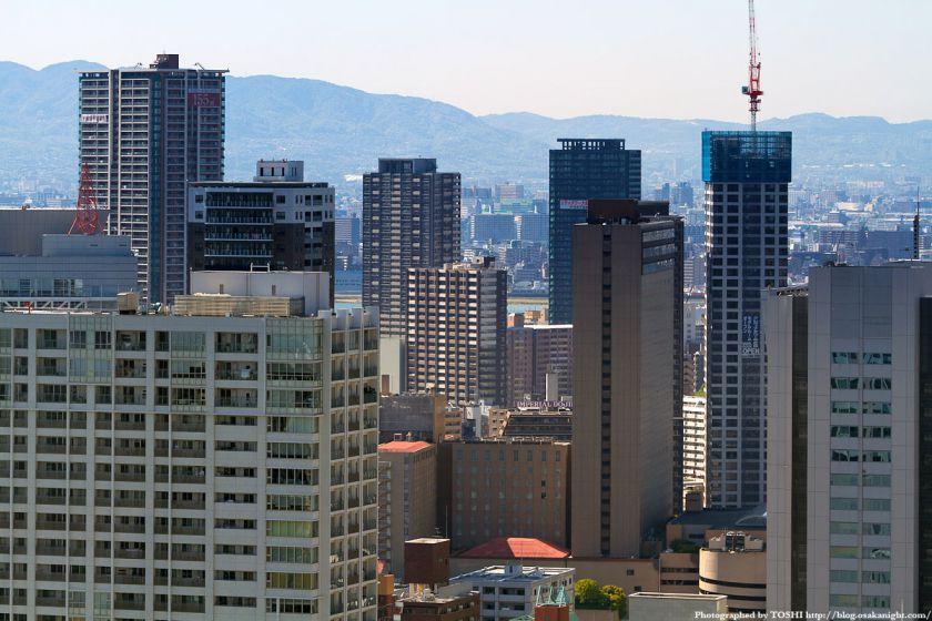 中之島西部と福島の高層ビル群