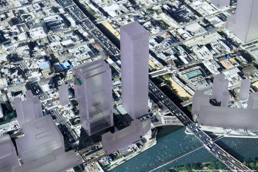 (仮称)大阪市中央区北浜東計画 模型