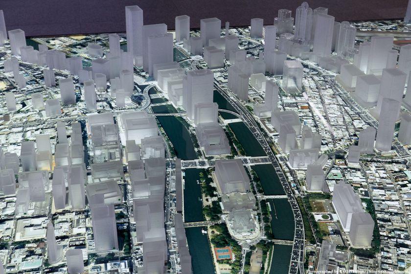 大林組 GALLERY O 大阪都市模型 中之島周辺 01
