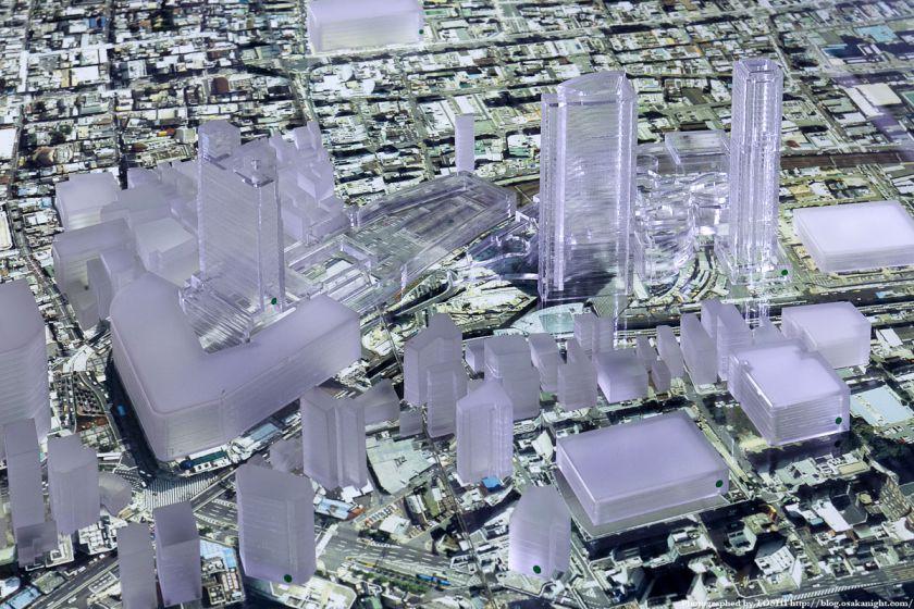 大林組 GALLERY O 大阪都市模型 難波周辺