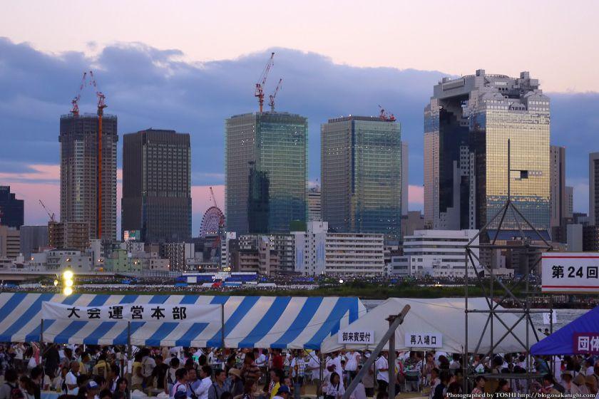 淀川河川公園から見た梅田の夕景 2012年8月 02