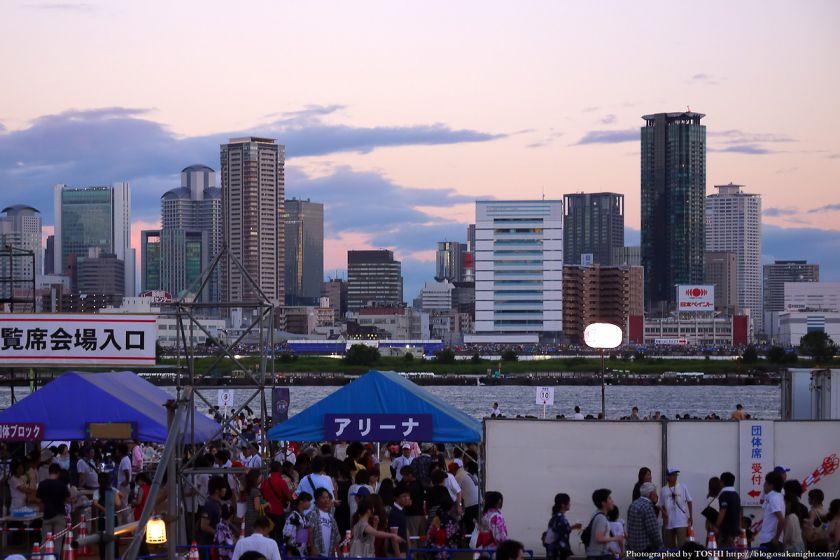 淀川河川公園から見た梅田の夕景 2012年8月 03