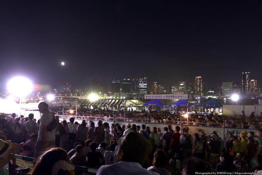 淀川河川公園から見た梅田の夜景 2012年8月 01
