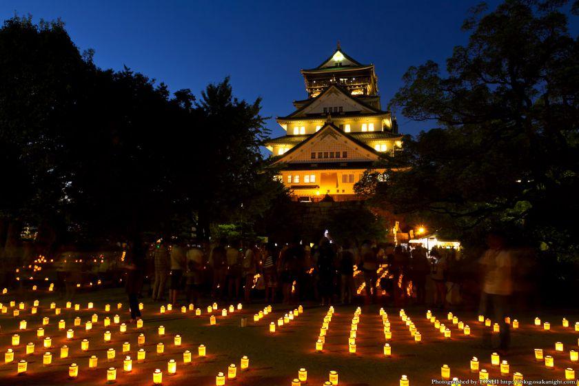大阪城 城灯りの景 2012 本丸広場 夕景