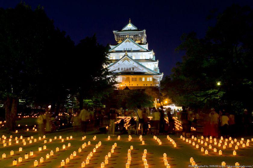 大阪城 城灯りの景 2012 本丸広場 夜景 01