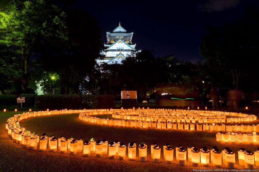 大阪城 城灯りの景 2012 本丸広場 夜景 02