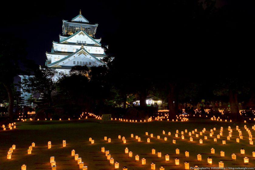 大阪城 城灯りの景 2012 本丸広場 夜景 03