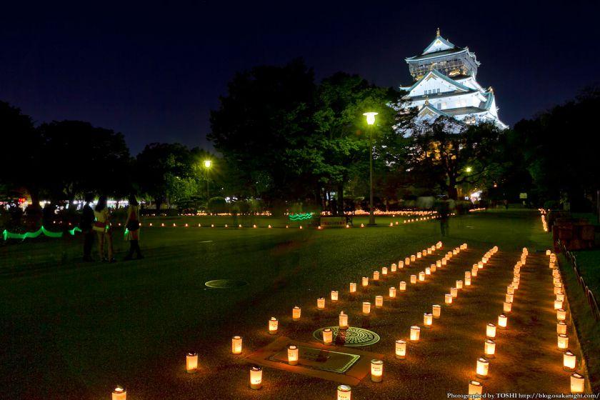 大阪城 城灯りの景 2012 本丸広場 夜景 04
