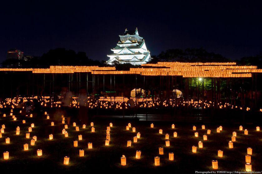 大阪城 城灯りの景 2012 西の丸庭園 夜景 01
