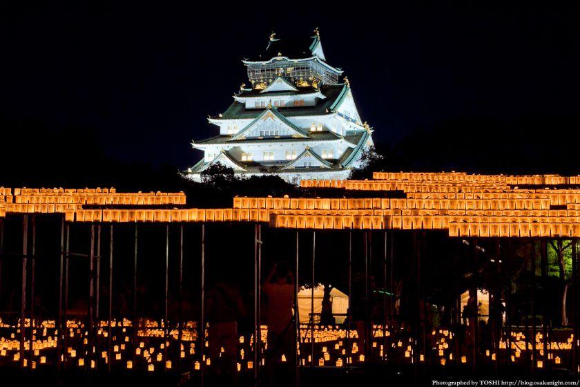 大阪城 城灯りの景 2012 西の丸庭園 夜景 02