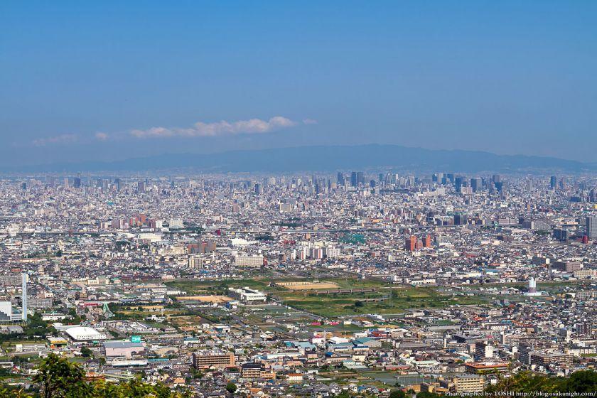 水呑地蔵院から大阪方面 2012年6月
