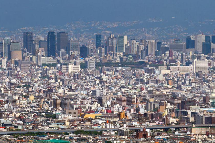 水呑地蔵院から梅田方面 2012年6月 01