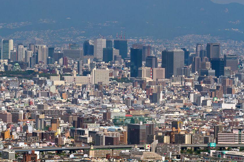 水呑地蔵院から梅田方面 2012年6月 02