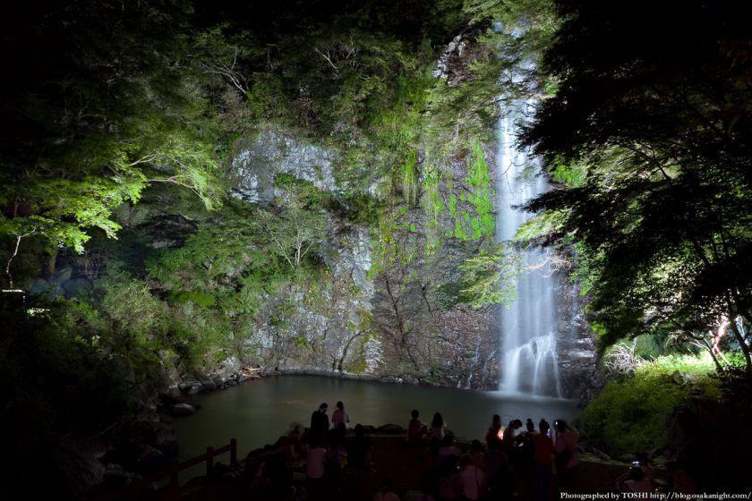 箕面大滝ライトアップ 2012年8月 04