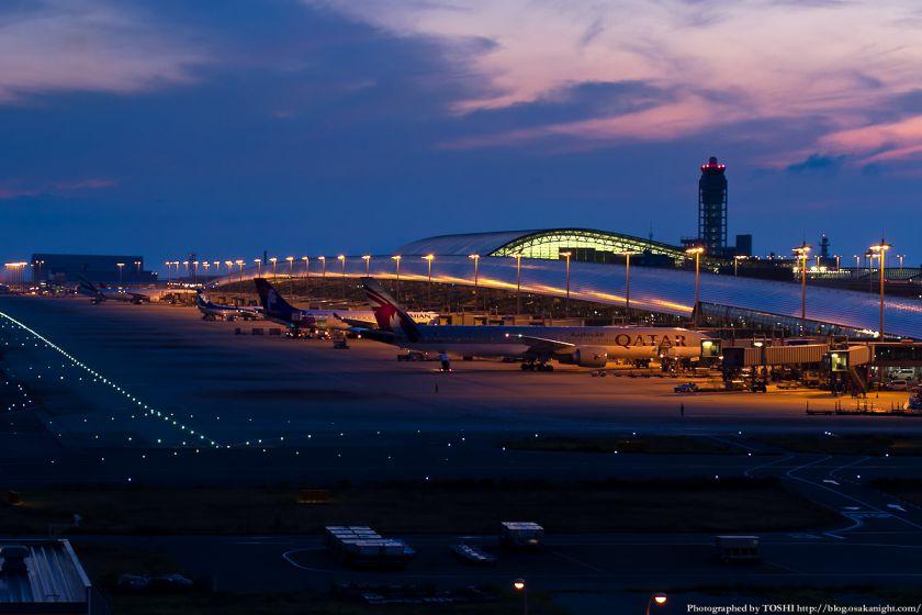 関西国際空港 夕景 2012年9月 02