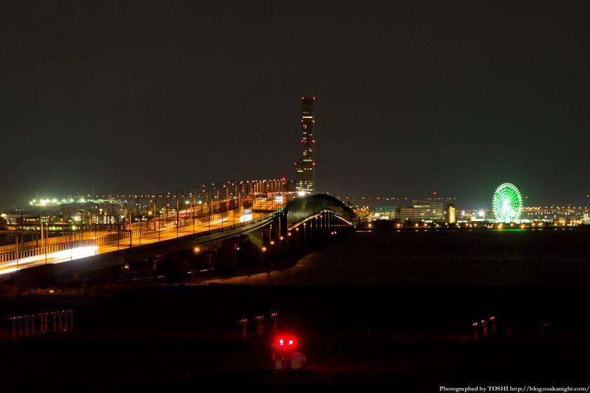 関空連絡橋 & りんくうタウン 夜景 2012年9月