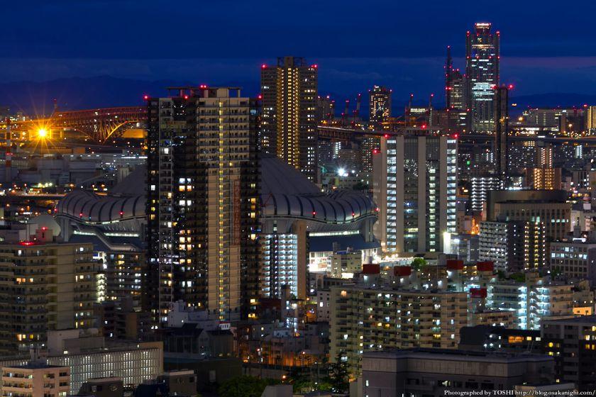 京セラドーム大阪周辺 夕景 from オリックス本町ビル 2012年5月