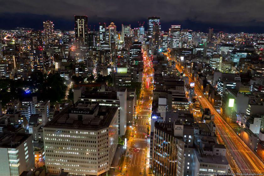 梅田〜中之島 夜景 from オリックス本町ビル 2012年5月 01