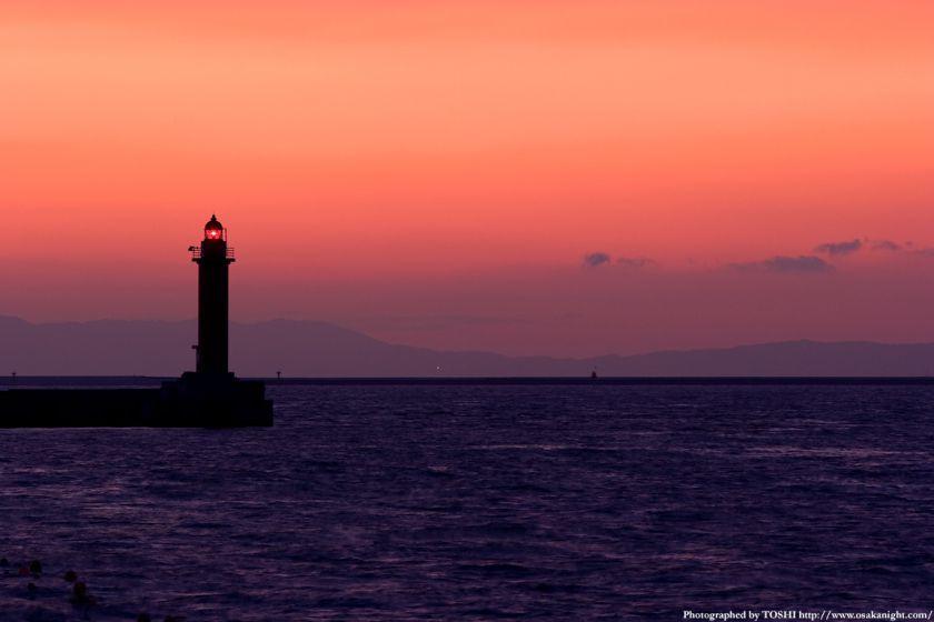 大阪湾の夕景