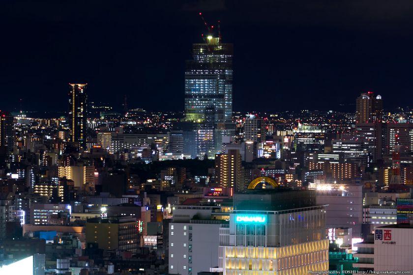 あべのハルカス 夜景 from オリックス本町ビル 2012年5月